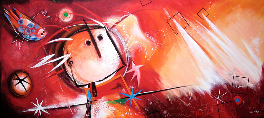 Painting by Angeles Nieto in commission for Eindhoven Technical University