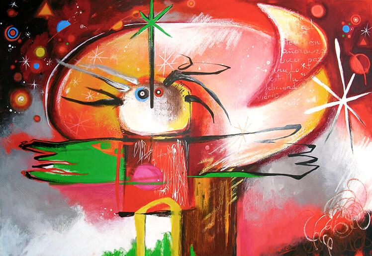 Painting by Angeles Nieto Trollkohnskoppel Kiesby Germany