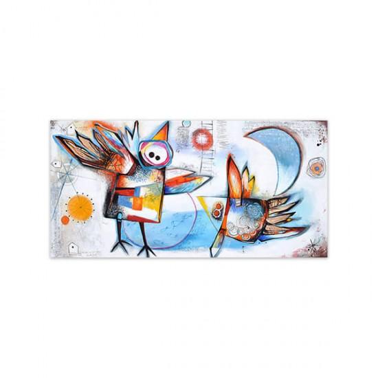 Nuestro Abrazo, painting by Angeles Nieto