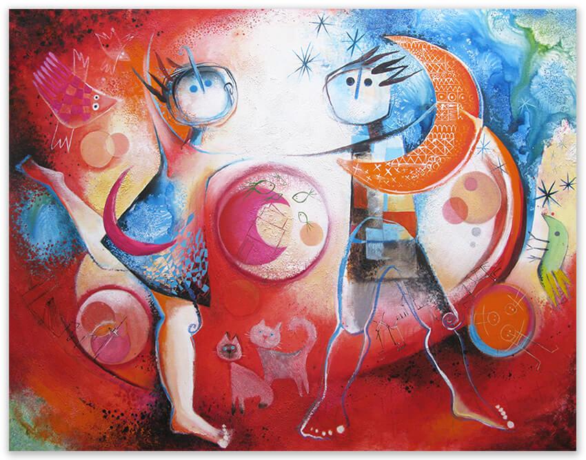 Painting - schilderij- Angeles Nieto