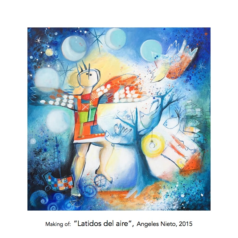 Painting by Angeles Nieto - schilderij door Angeles Nieto