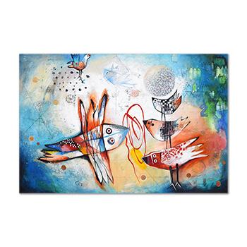 Pájaros, la esperanza - painting by Angeles Nieto