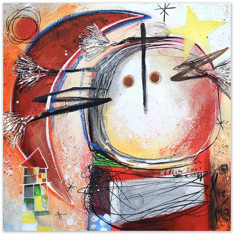 Estrella amarilla en mi pelo, painting by Angeles Nieto