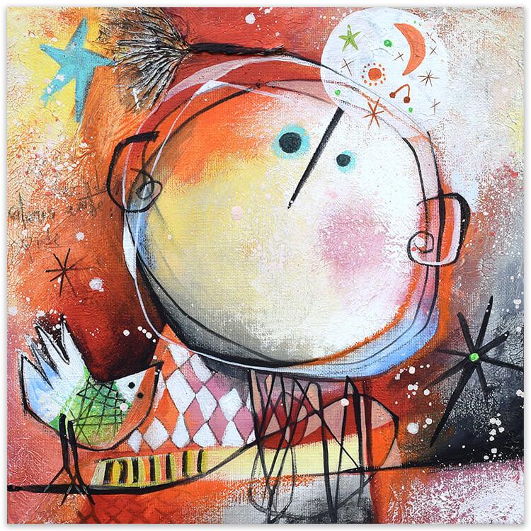 Soñando dreaming, painting by Angeles Nieto