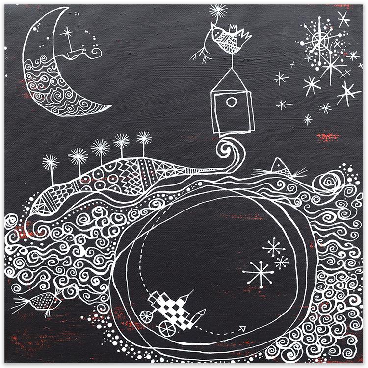 Viaje en la noche painting by Angeles Nieto