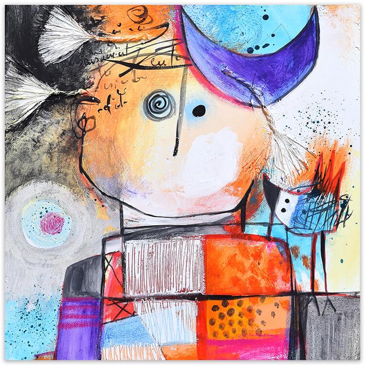Pensamientos painting by Angeles Nieto