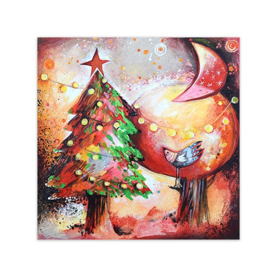 arboles-diciembre painting by Angeles NIeto