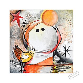 Mujer pájaro - Angeles Nieto - original painting