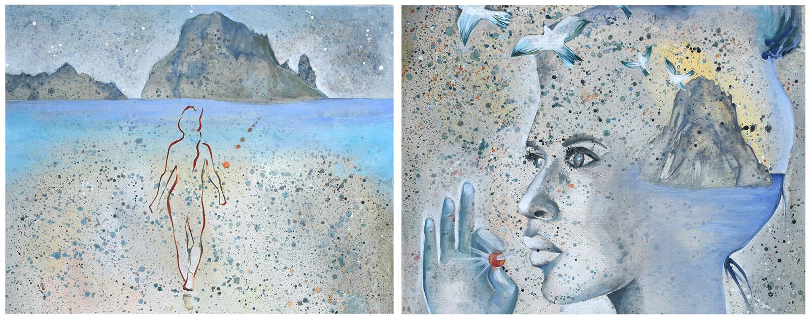 paintings ibiza by Angeles Nieto