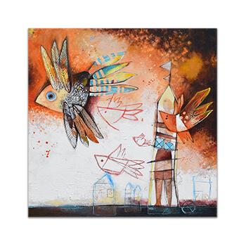 Original painting on canvas by Angeles Nieto