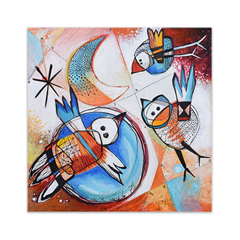 Original painting on canvas Feeling Good Art Collection by Angeles Nieto