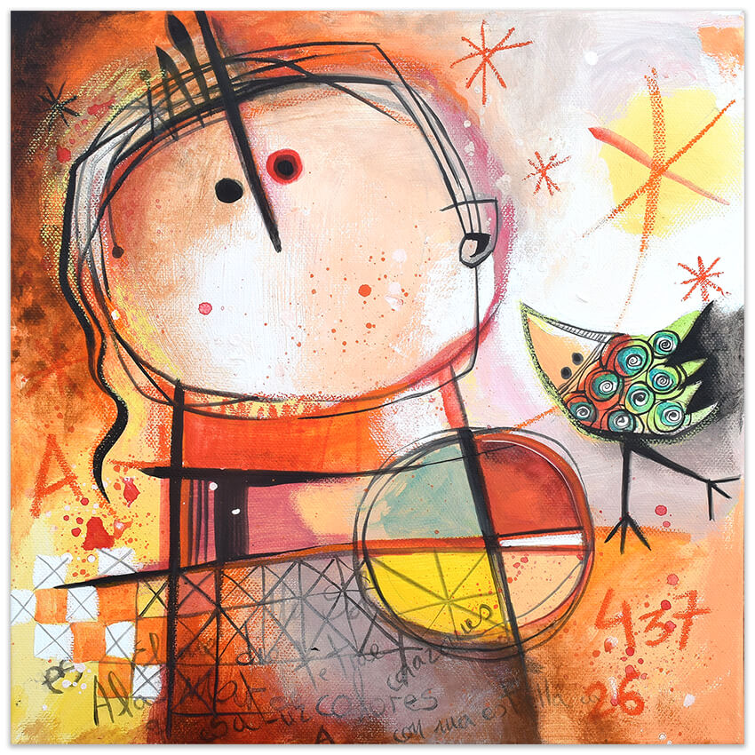 Feeling Good Art Collection - Original painting by Angeles Nieto