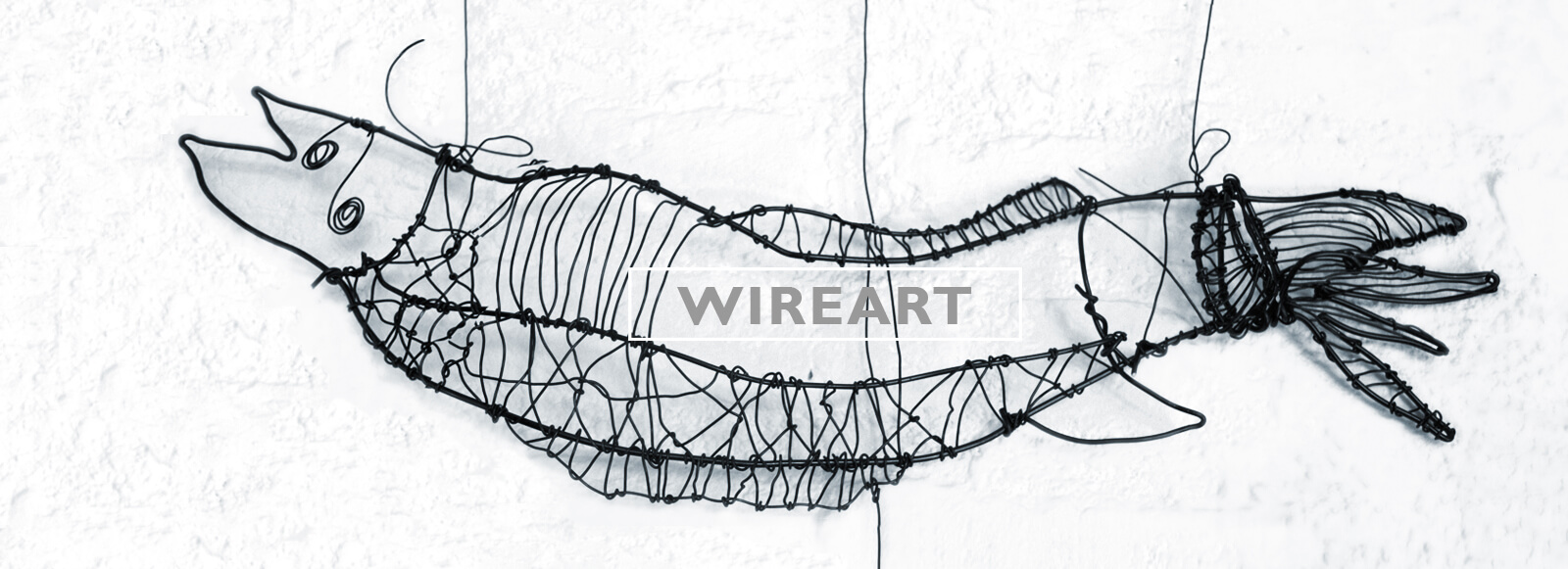Wire art food by Angeles Nieto
