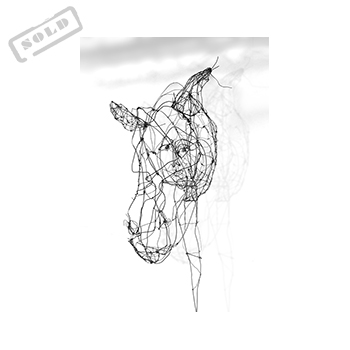 Wire art by Angeles Nieto - Persona caballo