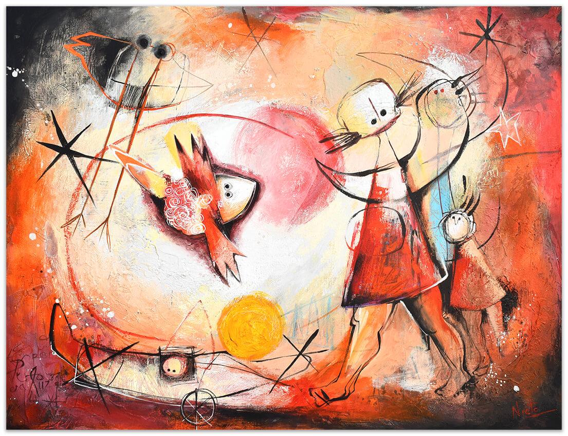 circulo-de eterno-movimiento-original painting by Angeles Nieto