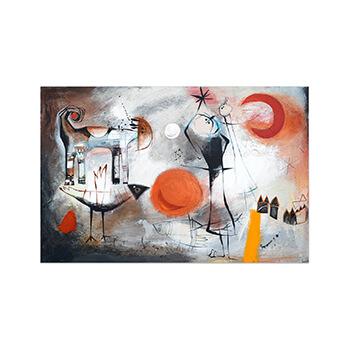 Tarde en la meseta - Original painting by Angeles Nieto