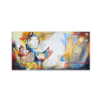 Nos encontramos - we will meet - painting by Angeles Nieto
