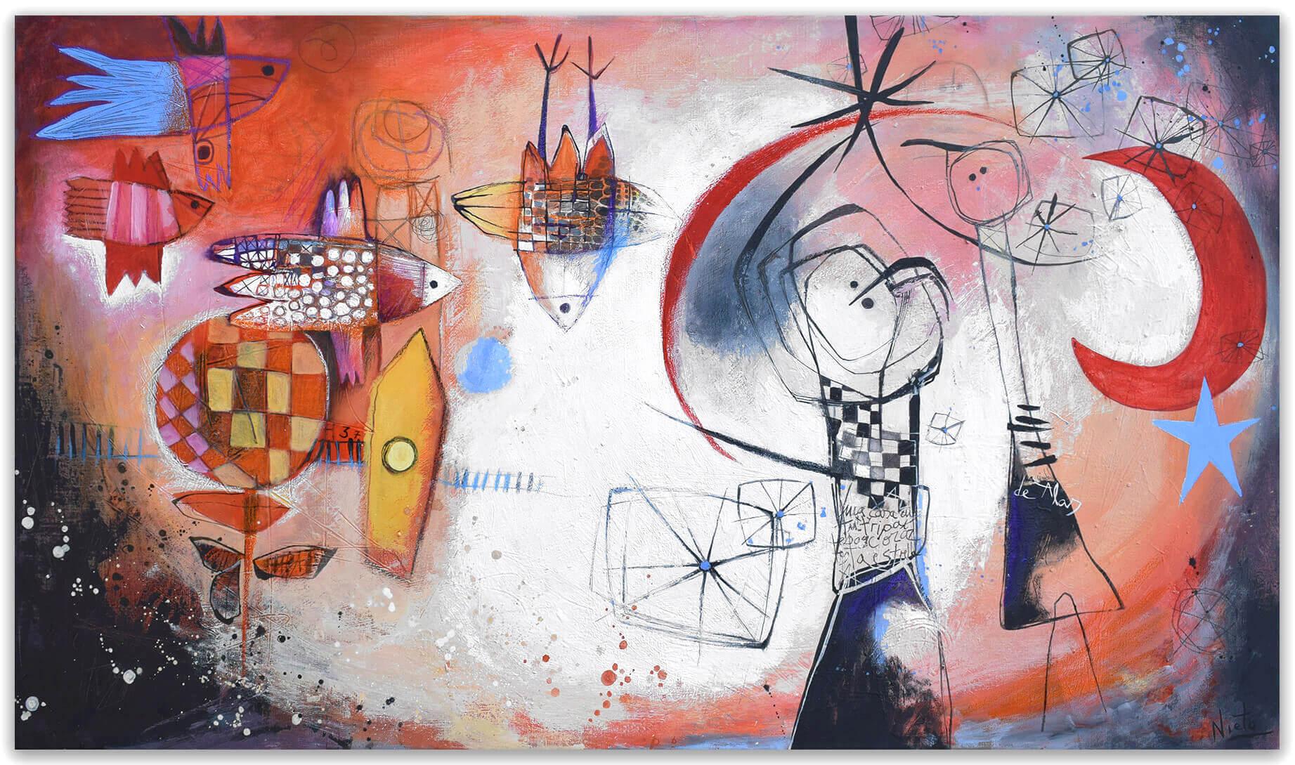 Emoción - original painting on canvas by Angeles Nieto