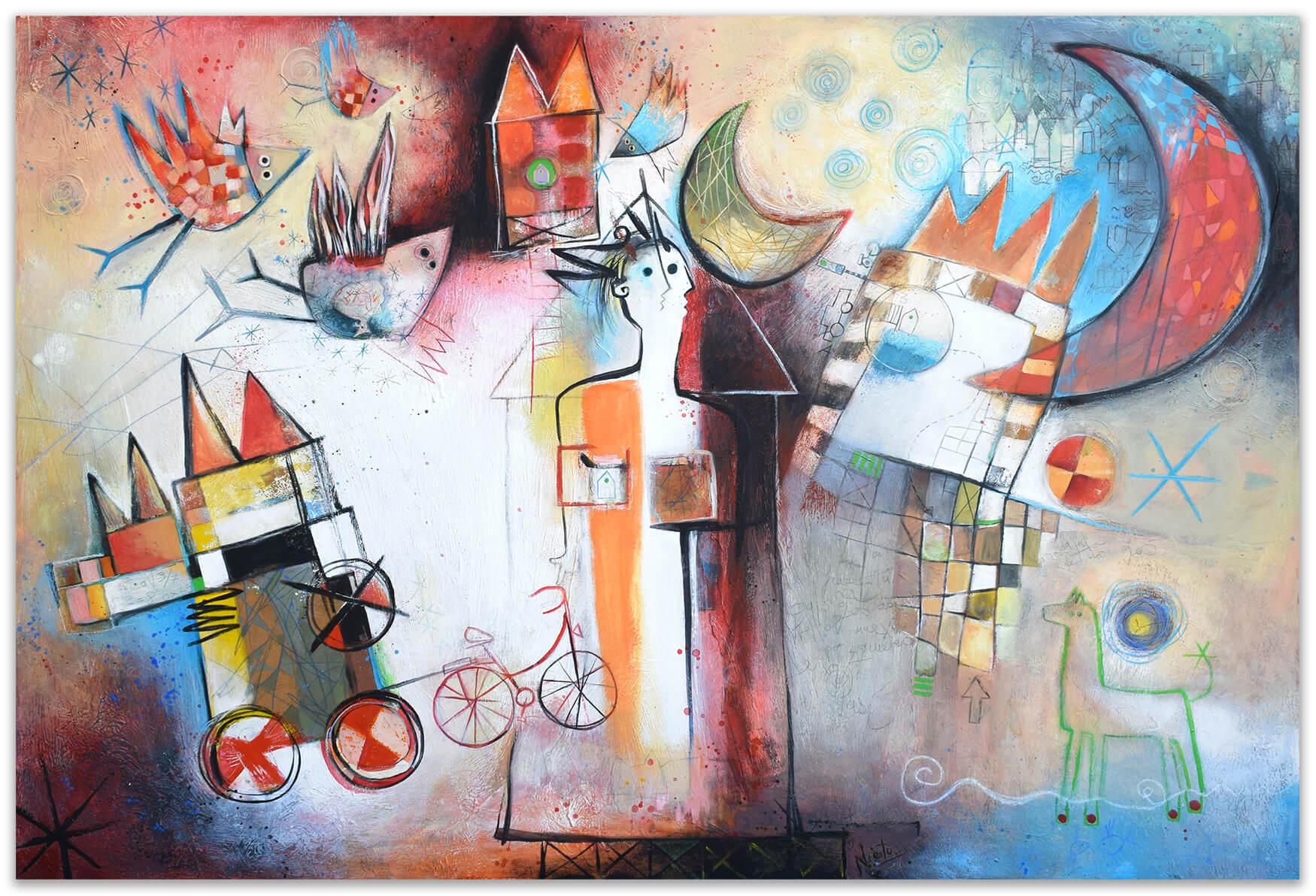 Original painting by Angeles Nieto - La puerta del sol