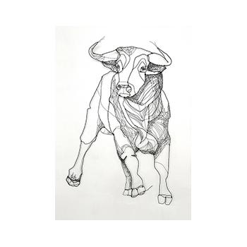 Toro de terciopelo - by Angeles Nieto - Fluwelen stier - Velvet Bull